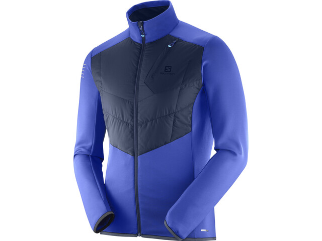 Salomon Pulse Warm Running Jacket Men blue